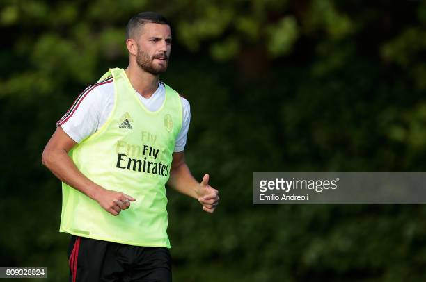 Mateo Pablo Musacchio of AC Milan looks on during the AC Milan training session at the club's training ground Milanello on July 5 2017 in Cairate...