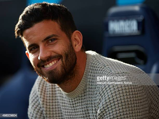 Mateo Pablo Musacchio of Villarreal looks on prior to the La Liga match between Villarreal CF and SD Eibar at El Madrigal stadium on November 22 2015...