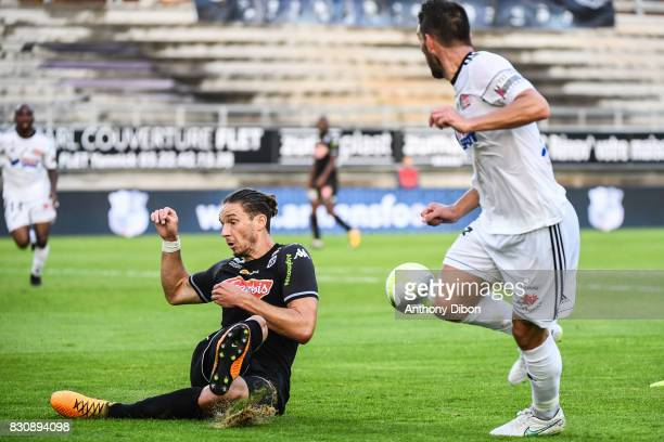Mateo Pavlovic of Angers during the Ligue 1 match between Amiens SC and Angers SCO at Stade de la Licorne on August 12 2017 in Amiens