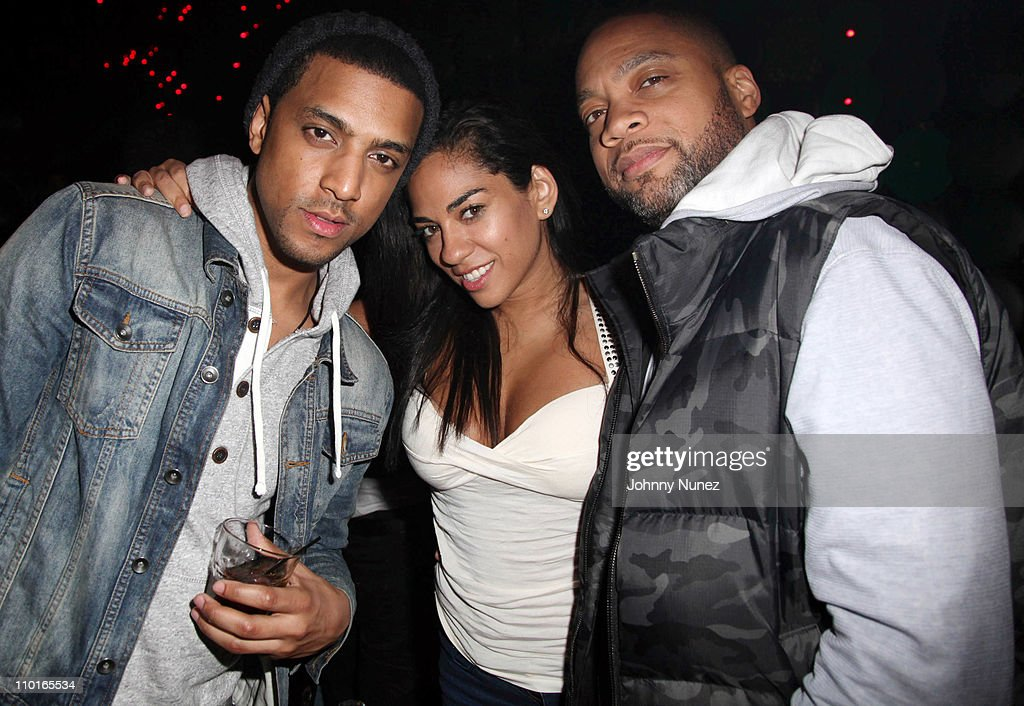 Mateo Sharon Carpenter and Kerry 'Krucial' attend Alyna Silva's Birthday Party at Greenhouse on March 15 2011 in New York City