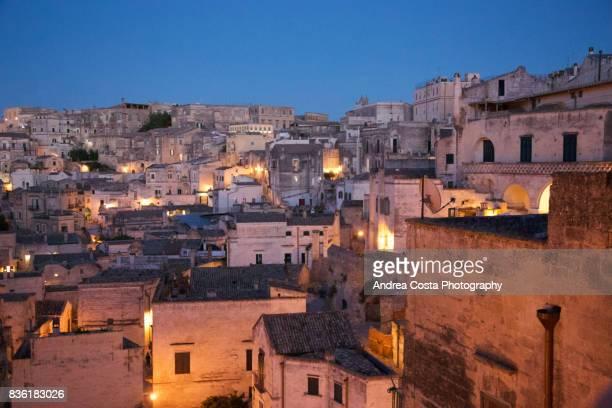 Matera by night città della cultura 2018, i sassi