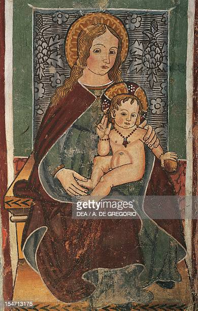 Maternity of the Blessed Virgin fresco Chapel of the Doctors Quinto Vercellese Italy 10th century