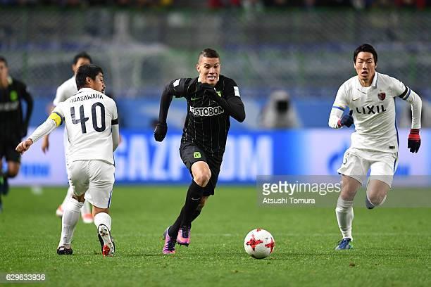Mateus Uribe of Atletico Nacional runs with the ball during the FIFA Club World Cup Japan semifinal match between Atletico Nacional and Kashima...