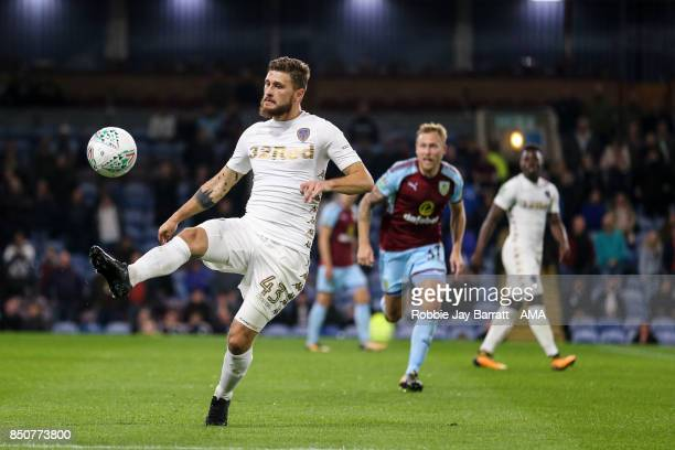 Mateusz Klich Fans of Leeds United during the Carabao Cup Third Round match between Burnley and Leeds United at Turf Moor on September 19 2017 in...