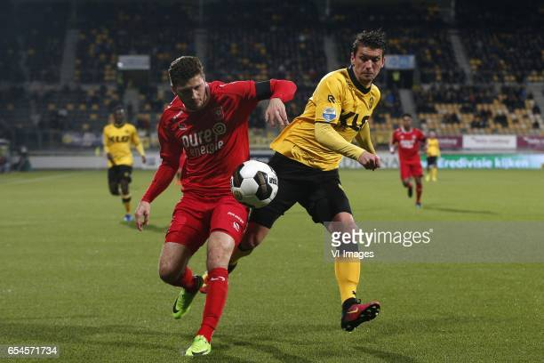 Mateusz Klich of FC Twente Christian Kum of Roda JCduring the Dutch Eredivisie match between Roda JC Kerkrade and FC Twente Enschede at the Parkstad...