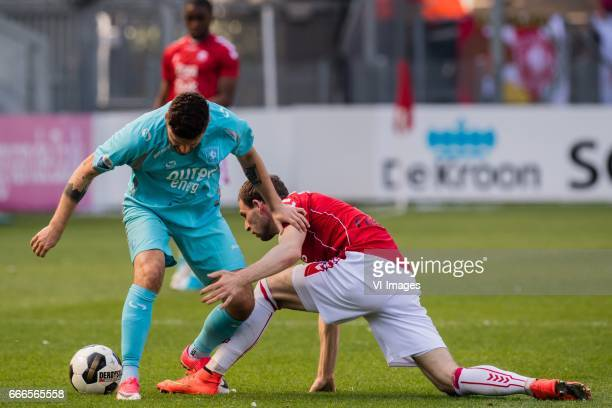 Mateusz Klich of FC Twente Kevin Conboy of FC Utrechtduring the Dutch Eredivisie match between FC Utrecht and FC Twente Enschede at the Galgenwaard...
