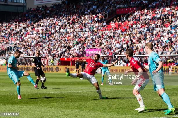 Mateusz Klich of FC Twente Mark van de Maarel of FC Utrecht Wout Brama of FC Utrecht Hans Fredrik Jensen of FC Twenteduring the Dutch Eredivisie...