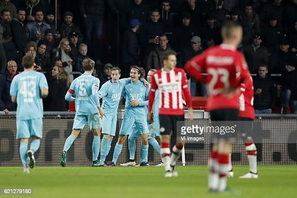 Mateusz Klich of FC Twente Stefan Thesker of FC Twente Dejan Trajkovski of FC Twente Enes Unal of FC Twente Jeroen van der Lely of FC Twente Santiago...