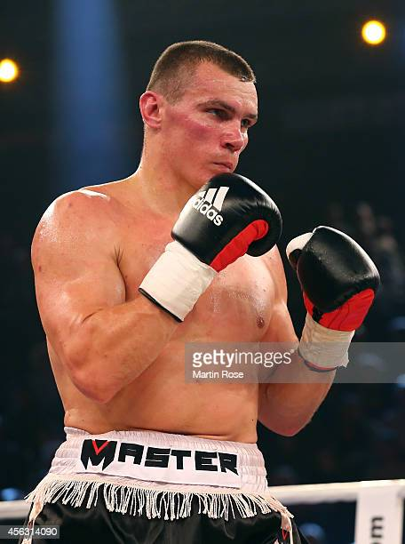 Mateusz Masternak of Poland in action during the cruiserweight fight at Sparkassen Arena on September 27 2014 in Kiel Germany