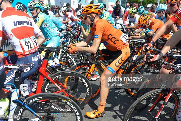 Mateusz Taciak awaiting for the start ahead of the opening stage of the 52nd Presidential Tour of Turkey 2016 the Spor Toto stanbul stanbul Stage...