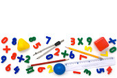Assorted math symbols - back to school concept. More related images in Zocha`s objects