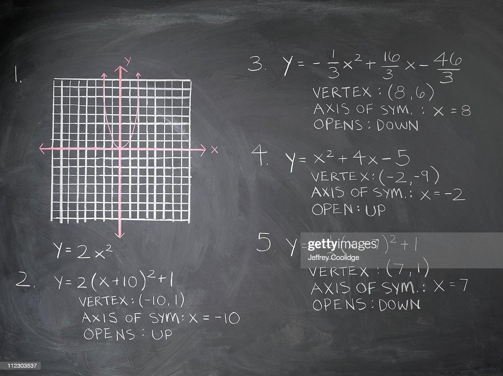 Math Equation on Blackboard : Stock Photo