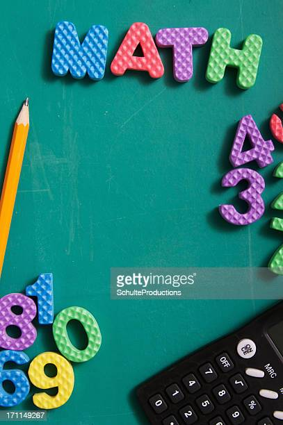 Math Numbers and Chalkboard