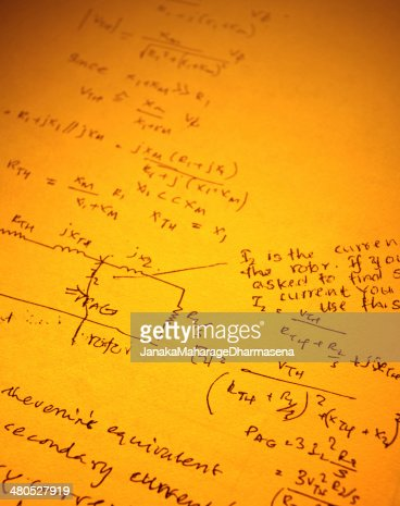 Mathematical Background : Stock Photo