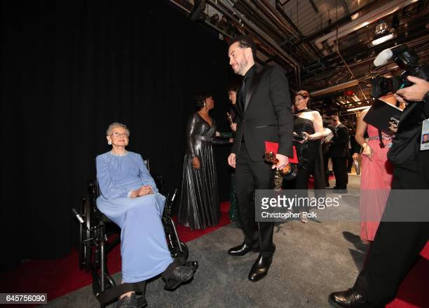 NASA mathematician Katherine Johnson and director Ezra Edelman winner of Best Documentary Feature for 'OJ Made in America' backstage during the 89th...