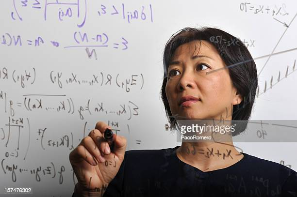 Mathematician working