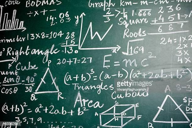 Matemáticas problemas sobre una Greenboard