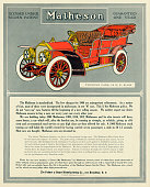 "A Matheson touring car is shown in a magazine advertisement dated 1907 The ad states ""A 1906 Matheson stock touring car still holds the world's..."