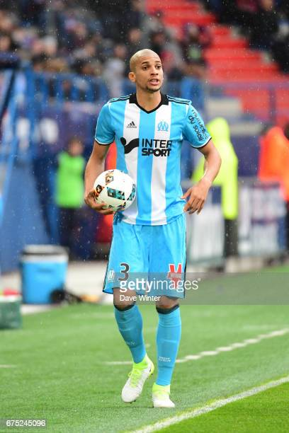 Matheus Doria Macedo of Marseille during the French Ligue 1 match between Caen and Marseille at Stade Michel D'Ornano on April 30 2017 in Caen France