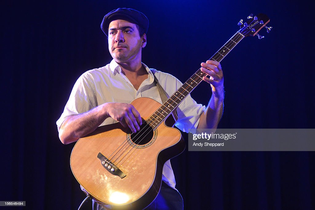 Matheus Nova performs on stage with Adriano Adewale at South Bank Centre during the London Jazz Festival 2012 on November 16, 2012 in London, United Kingdom.