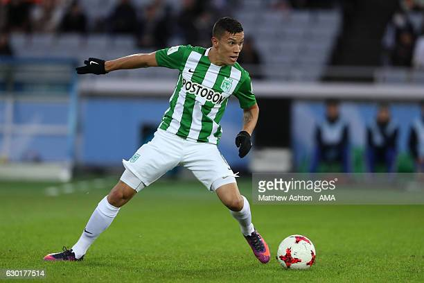Mateus Uribe of Atletico Nacional in action during the FIFA Club World Cup 3rd place match between Club America and Atletico Nacional at...