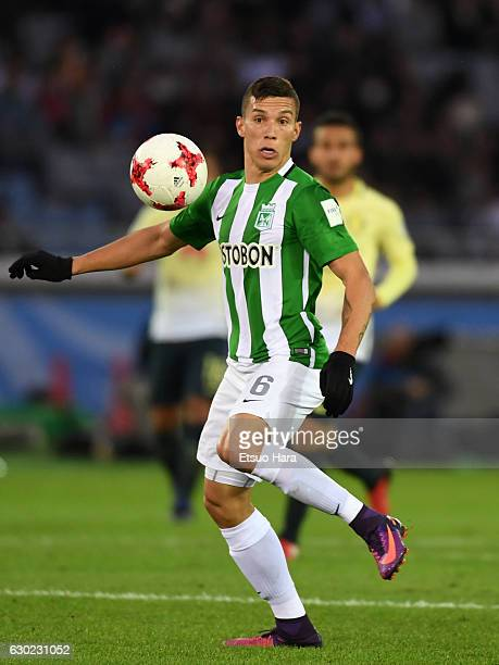 Mateus Uribe of Atletico Nacional in action during the FIFA Club World Cup 3rd place match between Club America and Atletico National at...