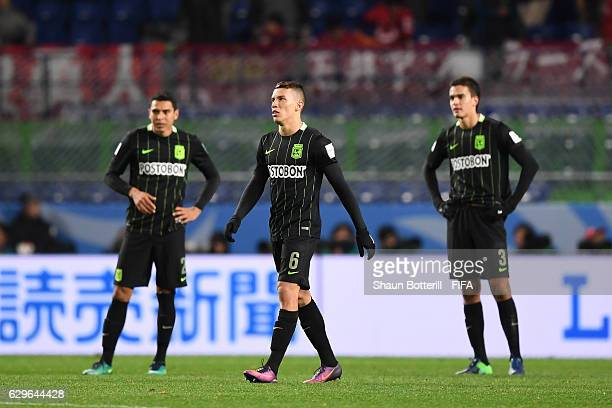 Mateus Uribe Villa of Atletico Nacional looks dejected during the FIFA Club World Cup Semi Final match between Atletico Nacional and Kashima Antlers...
