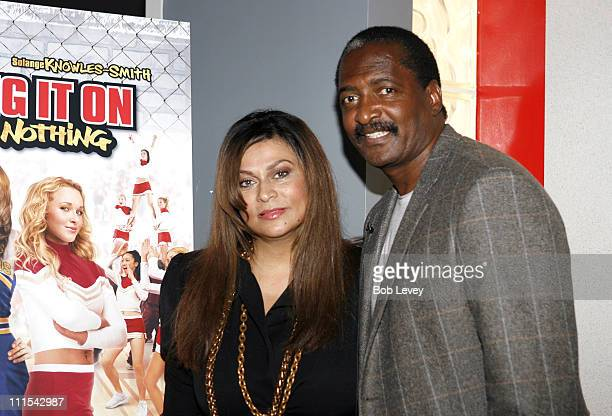 Mathew and Tina Knowles parents of sisters Solange KnowlesSmith and Beyonce Knowles at special August 2 hometown screening of Bring it On All or...