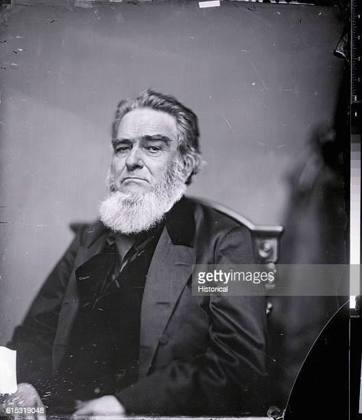 Mathew Brady studio portrait of Edward Bates Attorney General under President Lincoln Ca 1860s