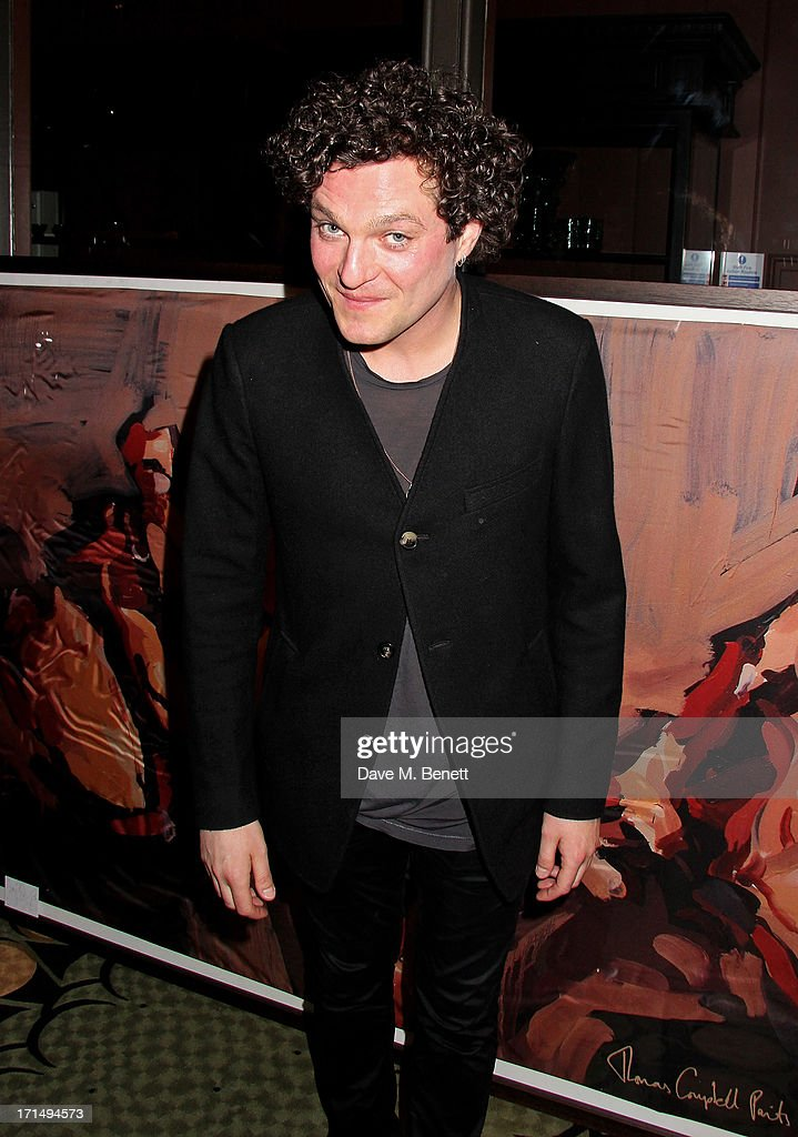 <a gi-track='captionPersonalityLinkClicked' href=/galleries/search?phrase=Mathew+Horne&family=editorial&specificpeople=4823524 ng-click='$event.stopPropagation()'>Mathew Horne</a> attends an exclusive preview of the 'Thomas Campbell Paints Lily and Lionel' collection of wearable art, in association with the English National Ballet, at CoutureLab on June 25, 2013 in London, England.