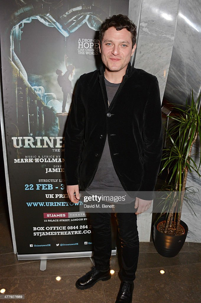 Mathew Horne attends the press night performance of 'Urinetown' at the St James Theatre on March 11, 2014 in London, England.