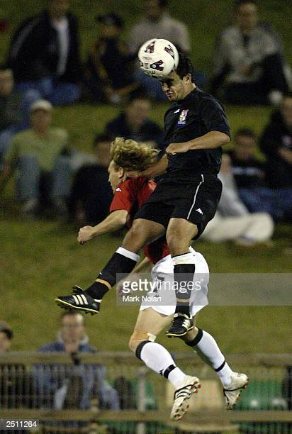 Mathew Langdon of Sydney United in action during the opening round of the 2003 NSL season between the Wollongong Wolves and Sydney United at WIN...