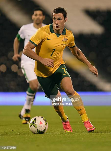 Mathew Leckie of Australia in action during the International Friendly match between Saudi Arabia and Australia at Craven Cottage on September 8 2014...