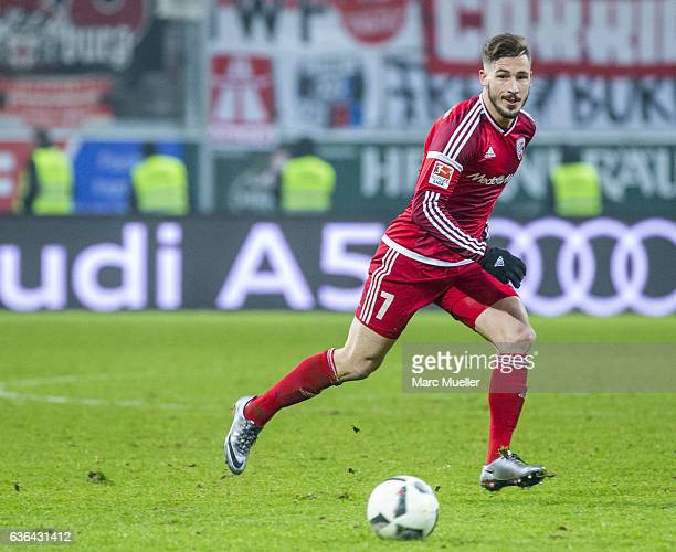Mathew Leckie of FC Ingolstadt 04 with ball during the Bundesliga match between FC Ingolstadt 04 and SC Freiburg at Audi Sportpark on December 21...