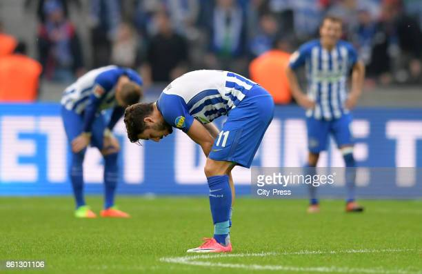 Mathew Leckie of Hertha BSC after the game between Hertha BSC and Schalke 04 on october 14 2017 in Berlin Germany