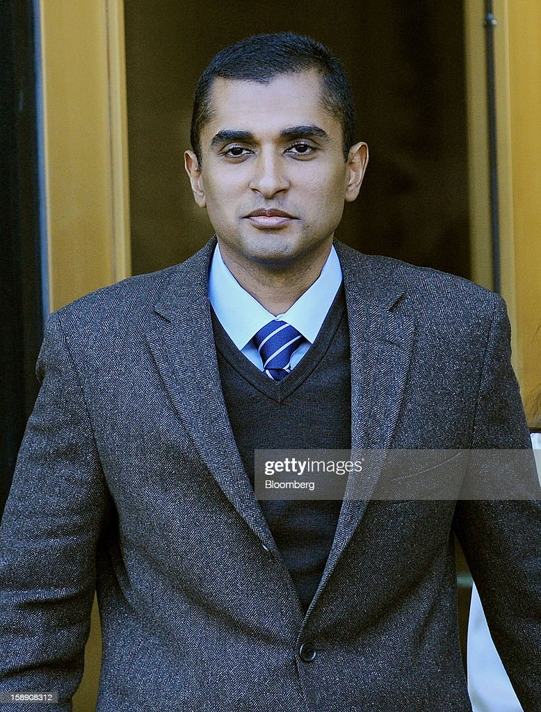 Mathew Martoma, a former portfolio manager at a unit of SAC Capital Advisors LP, exits federal court in New York, U.S., on Thursday, Jan. 3, 2013. Martoma, charged in what prosecutors called the biggest insider trading scheme in history, pleaded not guilty to criminal charges. Photographer: Peter Foley/Bloomberg via Getty Images