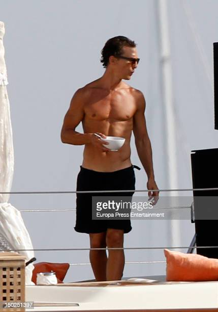 Mathew McConaughy is seen sighting during their holidays on August 11 2012 in Ibiza Spain