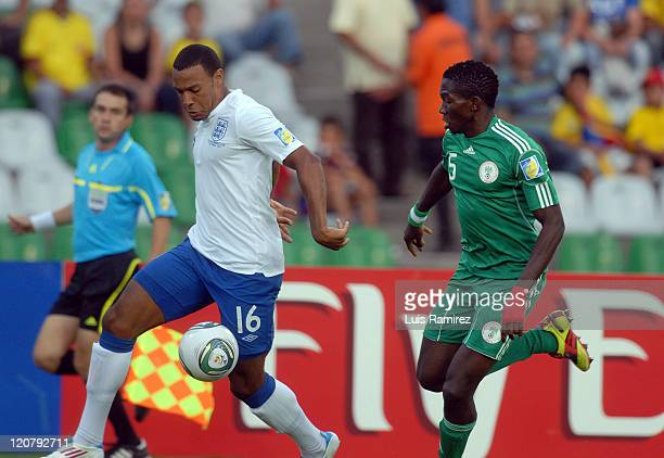 Mathew Phillips of England fight for the ball with Kenneth Omeruo of Nigeria during a match for the second round for the FIFA U20 World Cup 2011...