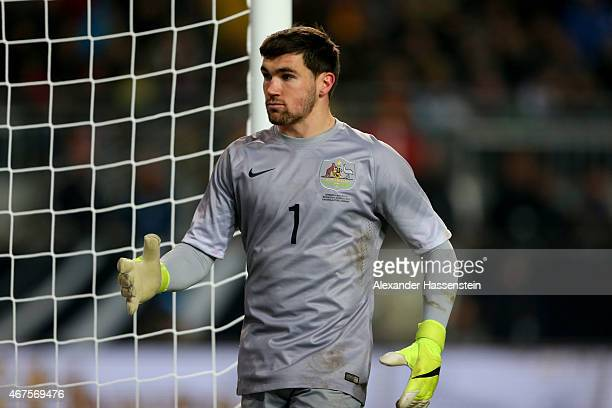 Mathew Ryan of Australia looks on during the International Friendly match between Germany and Australia at FritzWalterStadion on March 25 2015 in...