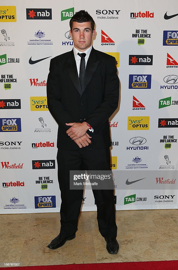 Mathew Ryan of the Central Coast Mariners poses during the 2012 Australian Football Awards at Sofitel Hotel on November 21, 2012 in Sydney, Australia.
