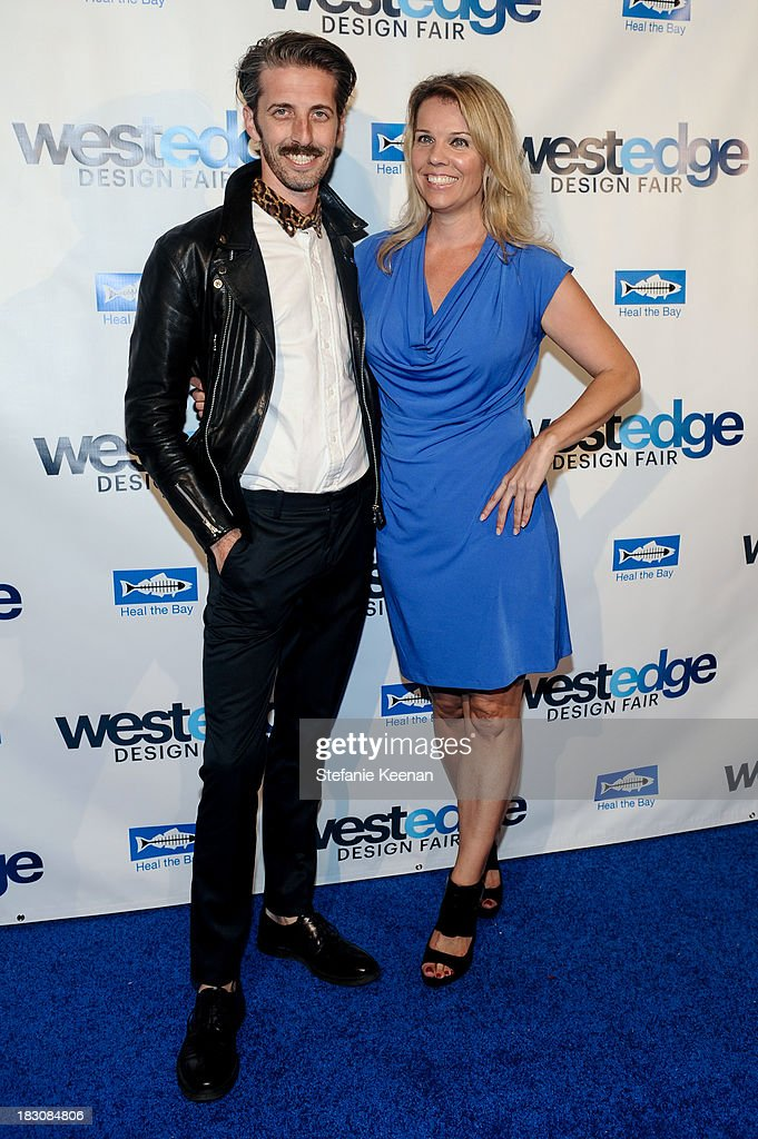 Mathew Sanders and Megan Reilly attend WestEdge Design Fair at Barker Hangar on October 3, 2013 in Santa Monica, California.