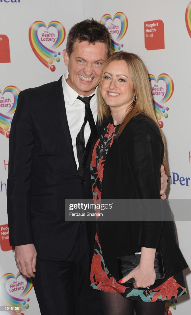 Mathew Wright [L] attends a fundraising event in aid of The Health Lottery hosted by Simon Cowell at Claridges Hotel on March 28, 2013 in London, England.