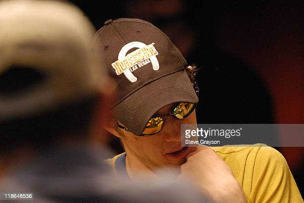Mathias Anderson looks over the table during what turned out to be his final hand in the final round of the 2004 World Series of Poker at Binion's...