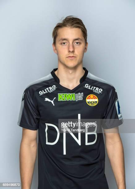 Mathias Gjerstroem of Team Stromsgodset Fotballklubb during Photocall on March 17 2017 in Drammen Norway