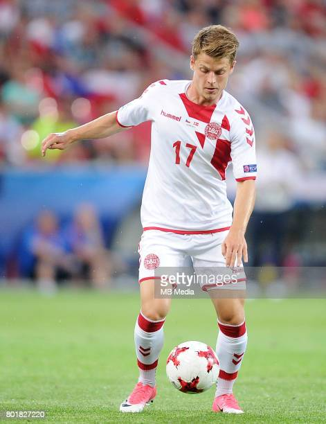 Mathias Jensen during the UEFA European Under21 match between Czech Republic and Denmark at Arena Tychy on June 24 2017 in Tychy Poland