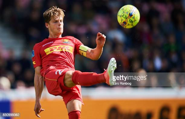 Mathias Jensen of FC Nordsjalland $c$ the Danish Alka Superliga match between FC Midtjylland and FC Nordsjalland at MCH Arena on August 13 2017 in...