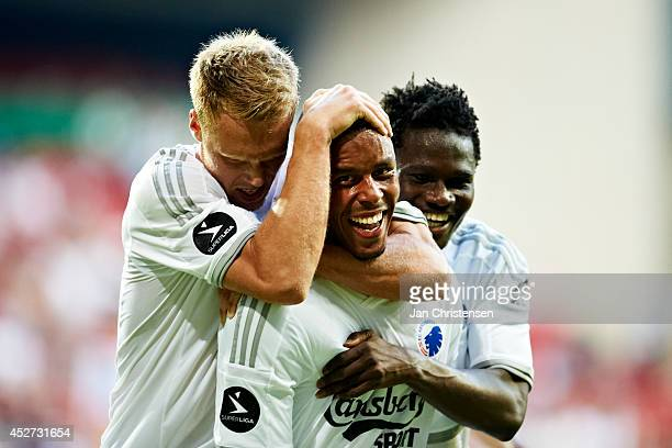Mathias Jorgensen of FC Copenhagen celebrate after his 10 goal during the danish Superliga match between FC Copenhagen and FC Nordsjalland at Telia...