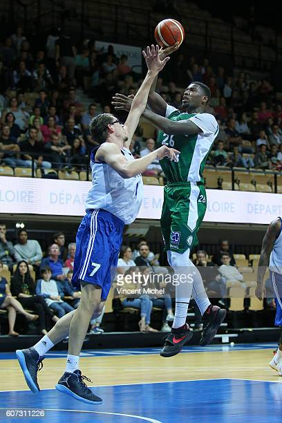 Mathias Lessort of Nanterre during the match for the 3rd and 4th place between Nanterre and Khimki Moscow at Tournament ProStars at Salle Arena Loire...