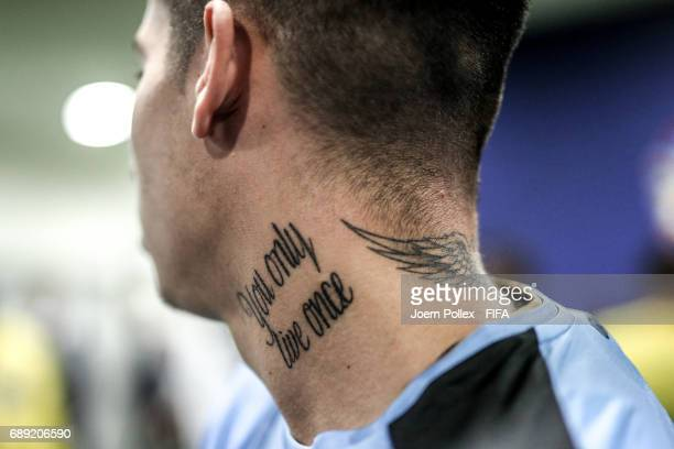 Mathias Olivera of Uruguay before the FIFA U20 World Cup Korea Republic 2017 group D match between Uruguay and South Africa at Incheon Munhak Stadium...