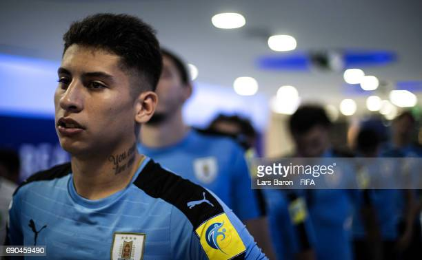 Mathias Olivera of Uruguay is seen prior to the FIFA U20 World Cup Korea Republic 2017 Round of 16 match between Uruguay and Saudi Arabia at Suwon...